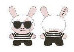 Andy Warhol x Kidrobot x Andy Warhol with Striped Shirt 20 inch Dunny