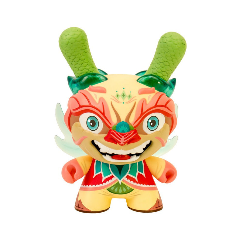 "Imperial Lotus Dragon 8"" Dunny tan by Scott Tolleson"