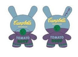Andy Warhol x Kidrobot x Campbells Blue 20 inch Dunny