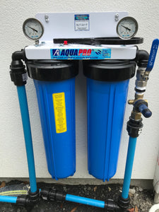 INLINE WHOLE HOUSE FILTER GIARDIA/SEDIMENT REMOVAL INSTALLED*