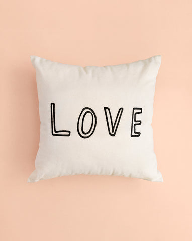 EMBROIDERED CUSHION COVER - YOU ARE LOVED