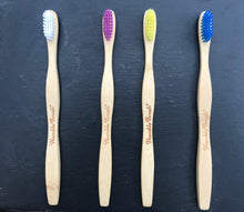 Load image into Gallery viewer, Bamboo toothbrush Yellow