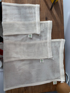 Organic Mesh Cotton Produce Bag- Medium