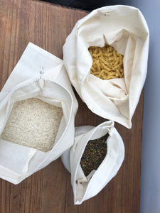 Organic 100% cotton produce bags- small