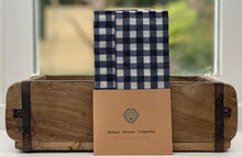 Load image into Gallery viewer, Bees Wax Wrap - 2 Snack Pouches Blue Gingham