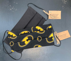 Child Face Mask- Reusable & Washable Bat Man