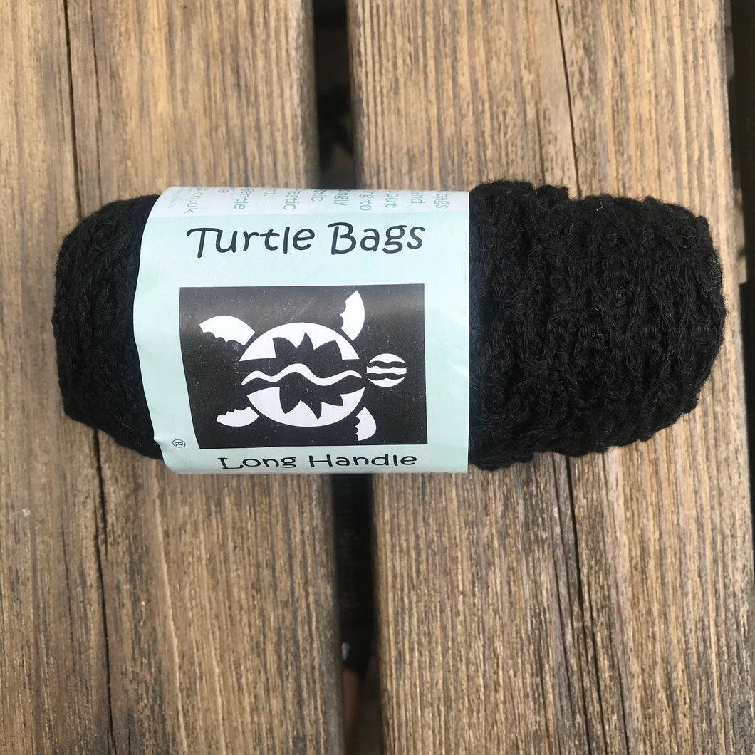100% Organic Black long handled string bag