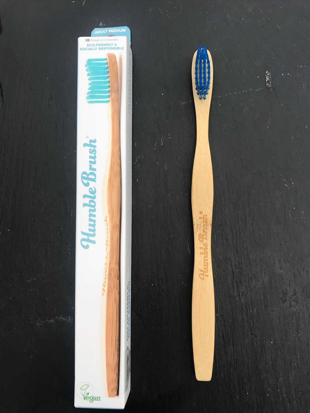Bamboo toothbrush Blue