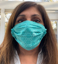 Load image into Gallery viewer, Face Mask  Black and Honeycomb - Reusable & Washable