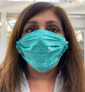 Face Mask  Black and Honeycomb - Reusable & Washable