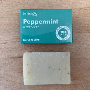 Peppermint and Poppy Seed Soap