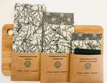Load image into Gallery viewer, Bees Wax Wrap - All Rounder 3 Assorted circular wraps Twigs