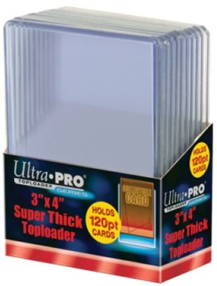"Ultra PRO 3 X 4"" Super Thick Toploader 120pt 10ct"