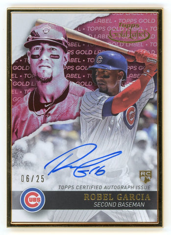 2020 Topps Gold Label Framed Autographs Red #GLARG Robel Garcia /25