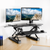 UpliftOffice.com VIVO Black Deluxe Corner Height-Adjustable Standing Desk  Monitor Riser, DESK-V000DC, Desk Riser,VIVO