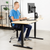 "UpliftOffice.com VIVO Electric 60"" x 24"" Standing Desk DESK-KIT-1B6C, Light Wood TableTop, Black Frame w/ Memory Pad Control, desk,VIVO"