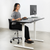 "Uplift Office VIVO Electric 60"" x 24"" Stand Up Desk DESK-KIT-1W6B 
