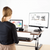 UpliftOffice.com VIVO Dark Wood Height-Adjustable Standing Desk Tabletop Monitor Riser,  DESK-V000VD, Desk Riser,VIVO