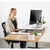 UpliftOffice.com VIVO White Deluxe Height-Adjustable Standing Tabletop Desk Monitor Riser, DESK-V000DW, Desk Riser,VIVO