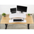 Uplift Office VIVO Deluxe Height Adjustable Standing Tabletop Desk Monitor DESK-V000DW  Sit to Stand, White, desk,Vivo