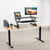 Uplift Office VIVO Height Adjustable Standing Desk Monitor Riser Tabletop Sit to Stand DESK-V000B, Black, desk,Vivo