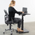 Uplift Office VIVO Premium Steel Electric 3-Stage Sit-Stand Desk DESK-V101EC Leg (only), Black, desk,Vivo