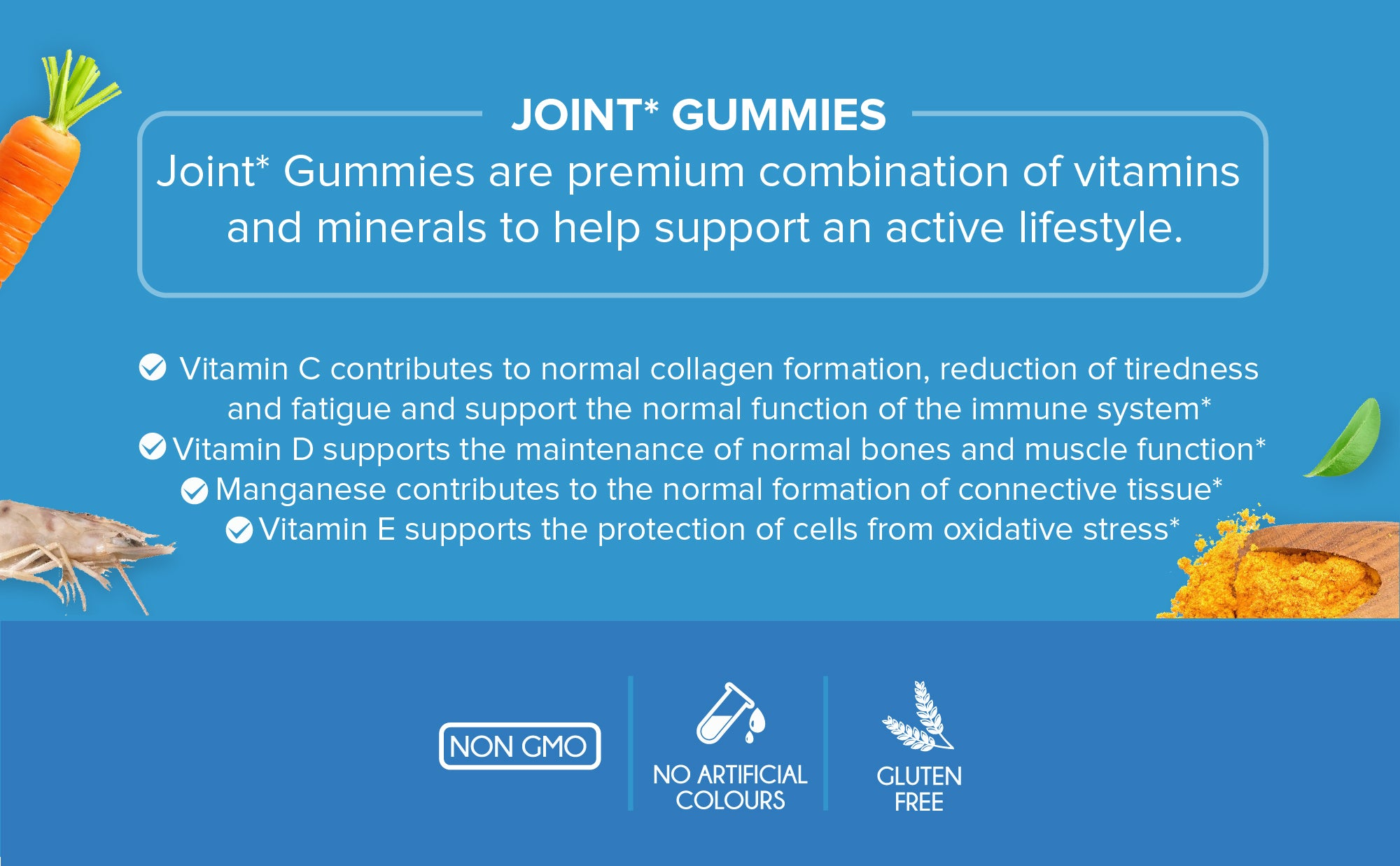 glucosamine, joint gummies, manganese, vitamin c, turmeric, joint care, joint supplement