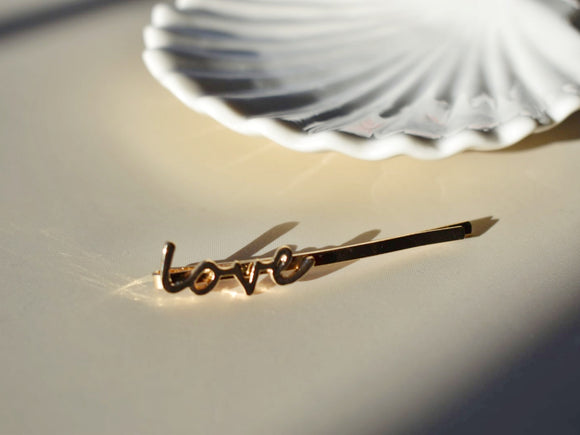 'LOVE' hair pin