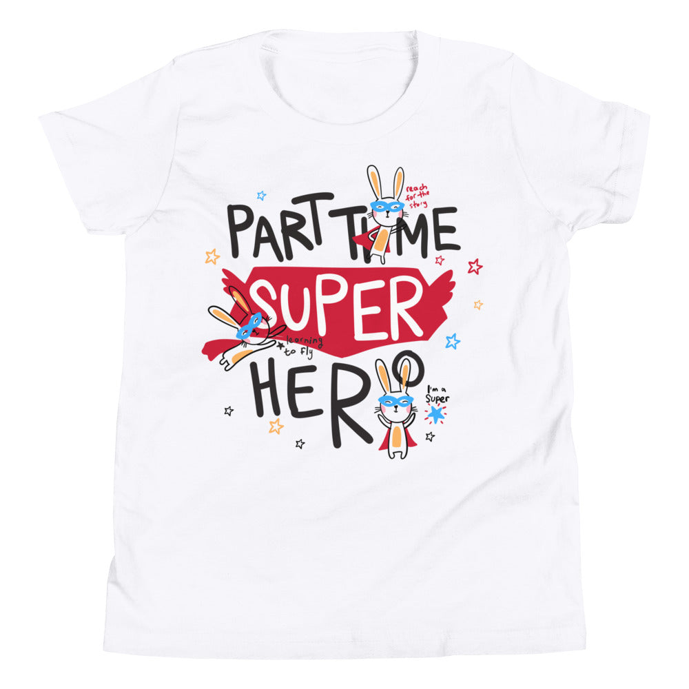 Part Time Super Hero Kid's T Shirt