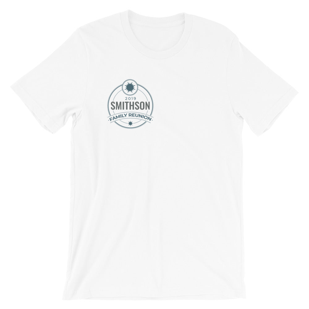 Personalized Family Reunion Label T Shirt