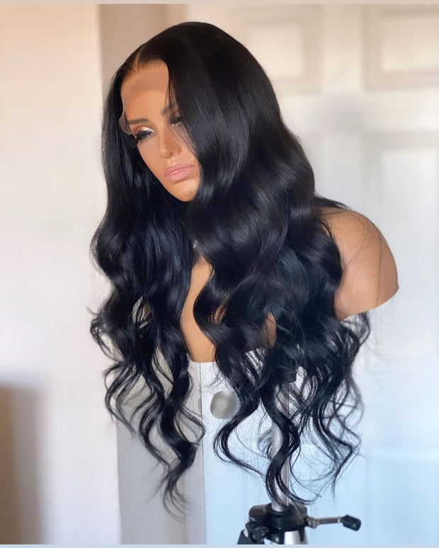 "Top Virgin Body Wave HD Closure Wig Human Hair Wig 180 Density (16""-30"" Available)"