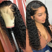 "Top Virgin 13x4 Deep Wave Lace Front Transparent  Wig 150 Density with Baby Hair (18""-26"" Available)"