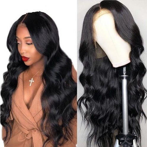 "Top Virgin 13x6 Body Wave Lace Front Wig 150 Density with Baby Hair (18""-26"" Available)"