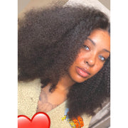"Top Virgin 13x6 Kinky Curly Lace Front Wig 150 Density with Baby Hair (18""-26"" Available)"