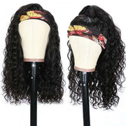 Top Virgin Italian Curly Headband Wig 150 Density (Free Rhinestone Headband)