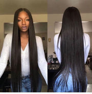 Top Virgin Straight Hair 3 Bundles with 4x4 HD Lace Closure
