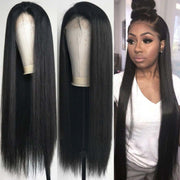 Top Virgin Straight Hair 360 Lace Wig 150 Density with Baby Hair
