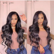 Top Virgin 13x6 Body Wave Lace Front Wig 150 Density with Baby Hair