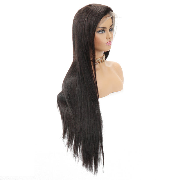 "Top Virgin Silky Straight HD Frontal Wig Human Hair Wig 180 Density (16""-30"" Available)"