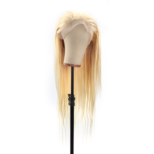 "Top Virgin 613 Blonde 13x4 Straight Lace Front Transparent  Wig 180 Density with Baby Hair (18""-26"" Available)"