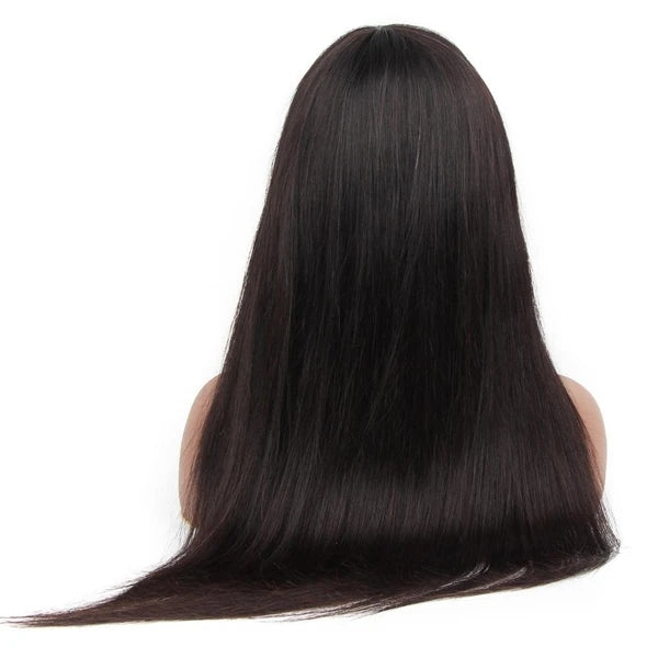 Top Virgin Sliky Straight Gluess Wig Human Hair Wigs with Bangs (No Lace)