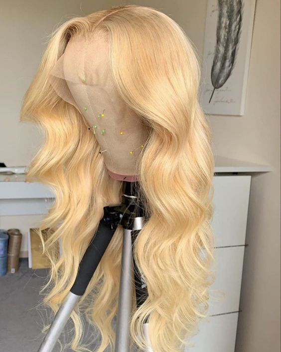Top Virgin 613 Blonde 13x4 Body Wave Lace Front Transparent  Wig 180 Density with Baby Hair