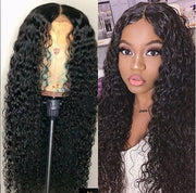 Top Virgin Deep Wave Full Lace Wig 150 Density with Baby Hair