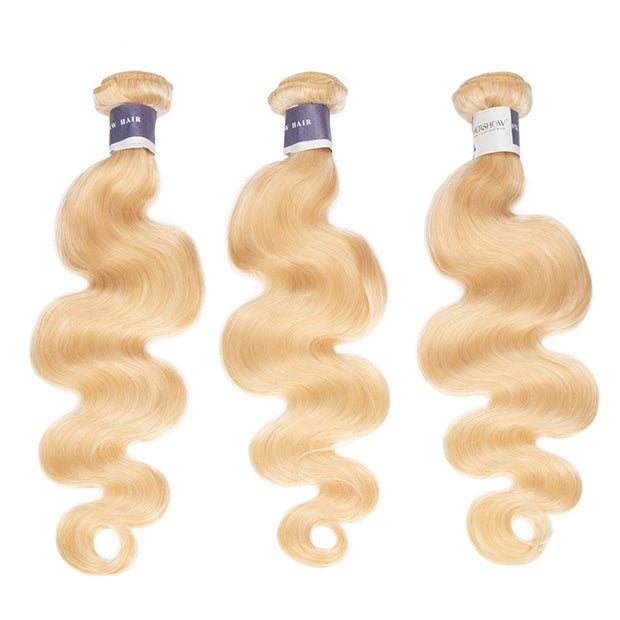 Top Raw 613 Blonde Body Wave 3 Bundles with 13x4 Frontal