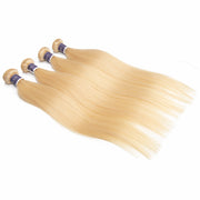 Top Raw Hair 613 Blonde Straight Hair Extensions 4 Bundles