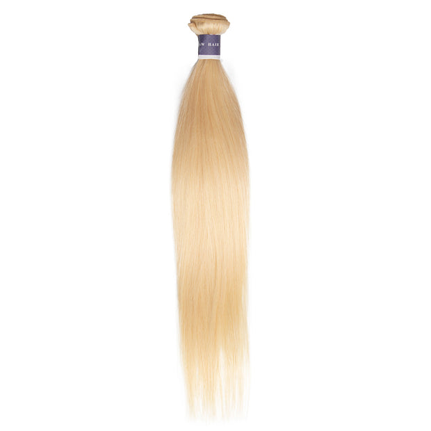 Top Raw Hair 613 Blonde Straight Hair Extensions 1 Bundle