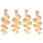 Top Virgin 613 Blonde Body Wave Extensions 4 Bundles
