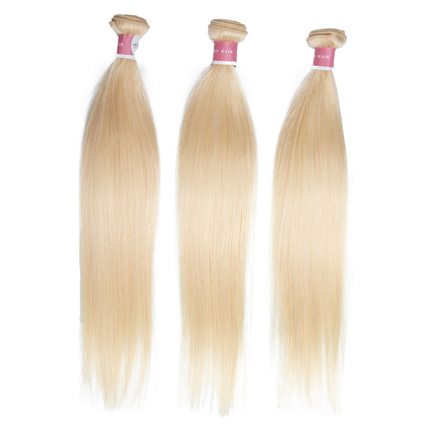 Top Virgin 613 Blonde Straight Hair Extensions 3 Bundles
