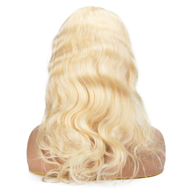 Top Raw 613 Blonde Body Wave Full Lace Wig 130 Density with Baby Hair