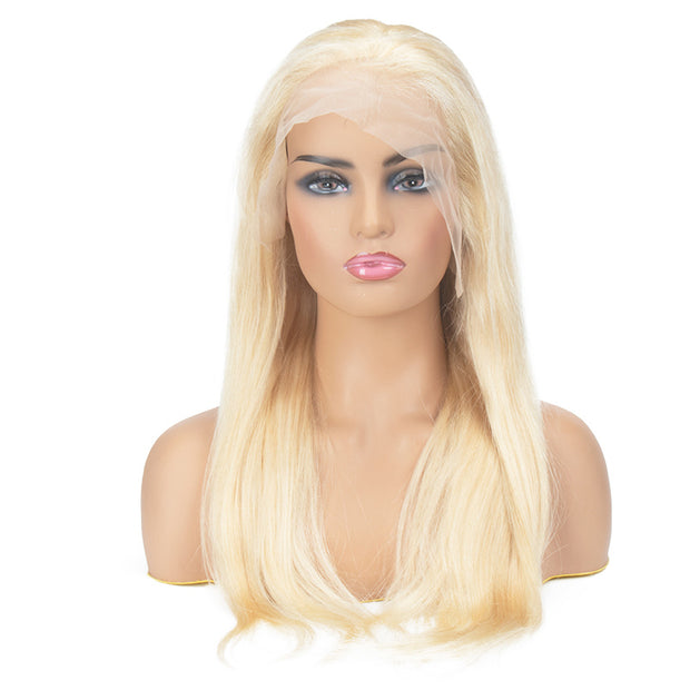 Top Raw 613 Blonde Straight Hair Full Lace Wig 130 Density with Baby Hair